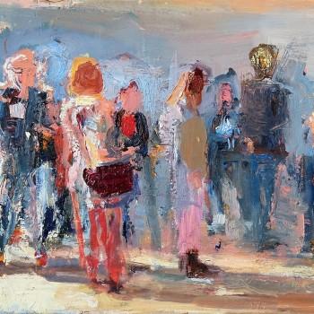 Menschengruppe | Öl, Lw | 30 x 40 cm | 2018