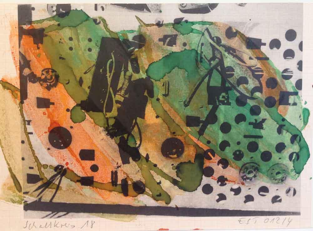 Schaltkreis (18) | Walzendruck | 2012 | 30 x 21 cm