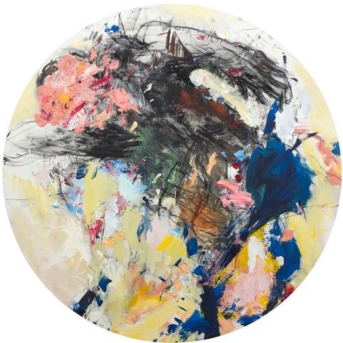 03 | Balanced somehow | Öl/LW | 100 x 100 cm | 2018