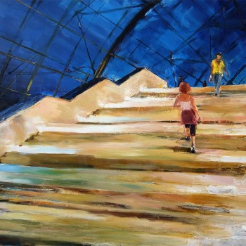 Die Treppe | Öl, Lw | 150 x 180 cm | 2018