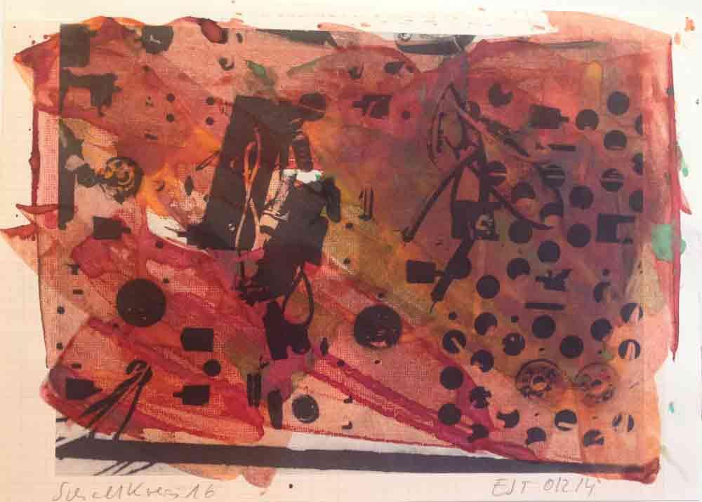 Schaltkreis (16) | Walzendruck | 2012 | 30 x 21 cm