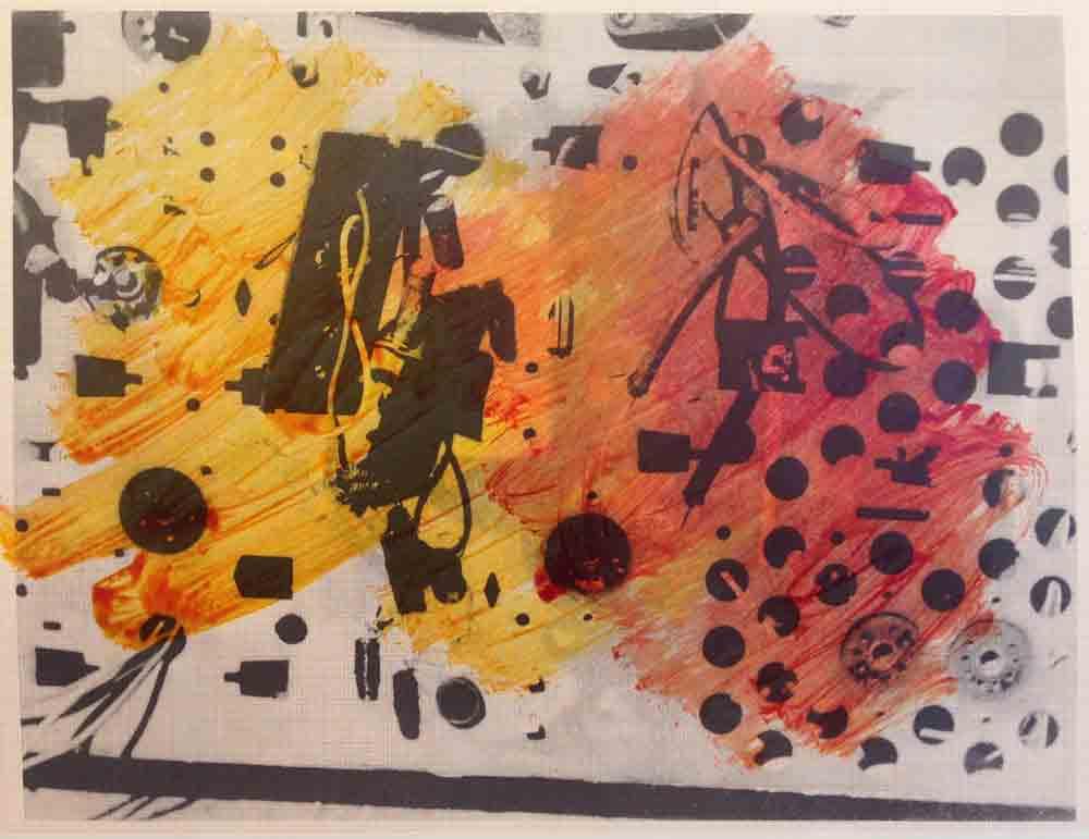 Schaltkreis (21) | Walzendruck | 2012 | 30 x 21 cm