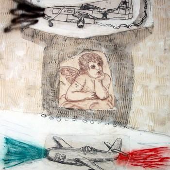 """Himmelsbild"" Michtechnik/LW, 155 x 110 cm, 2017"