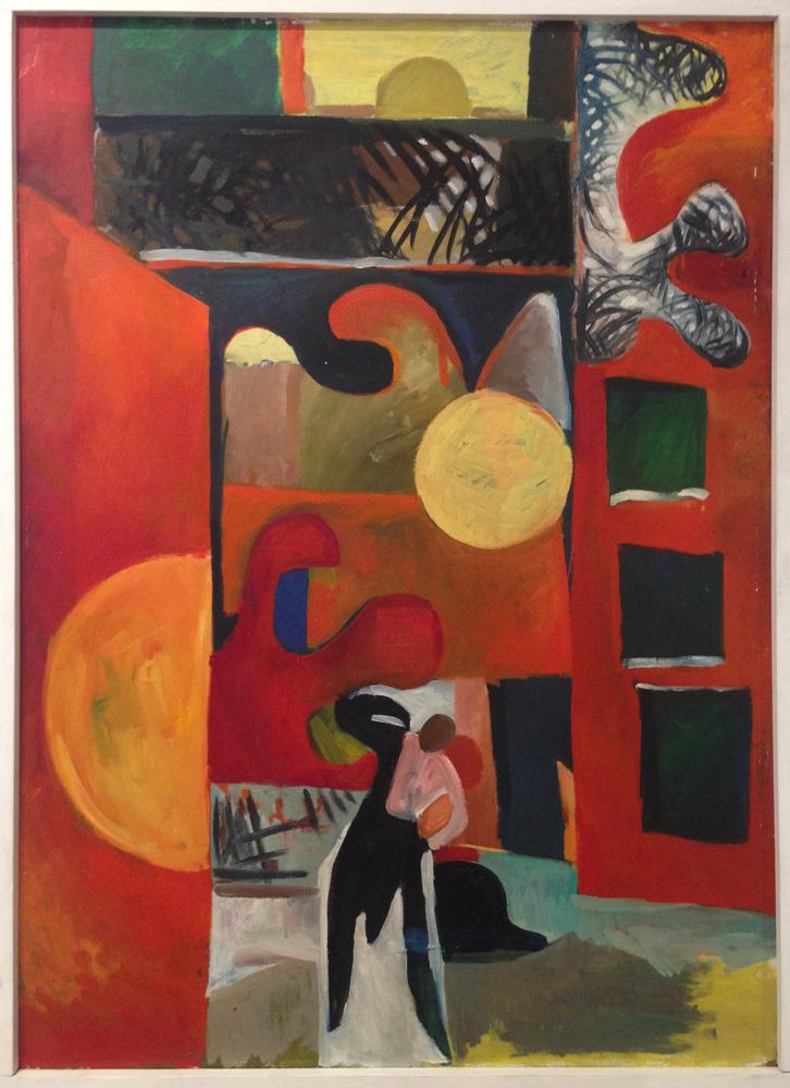 Hommage an Hodler | Öl/Hartfaser | 1971 | 90 x 127 cm