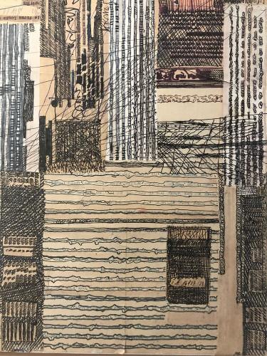 10 | o.T. | Stifte, Papier; Leinwand | 30 x 40 cm | 2016