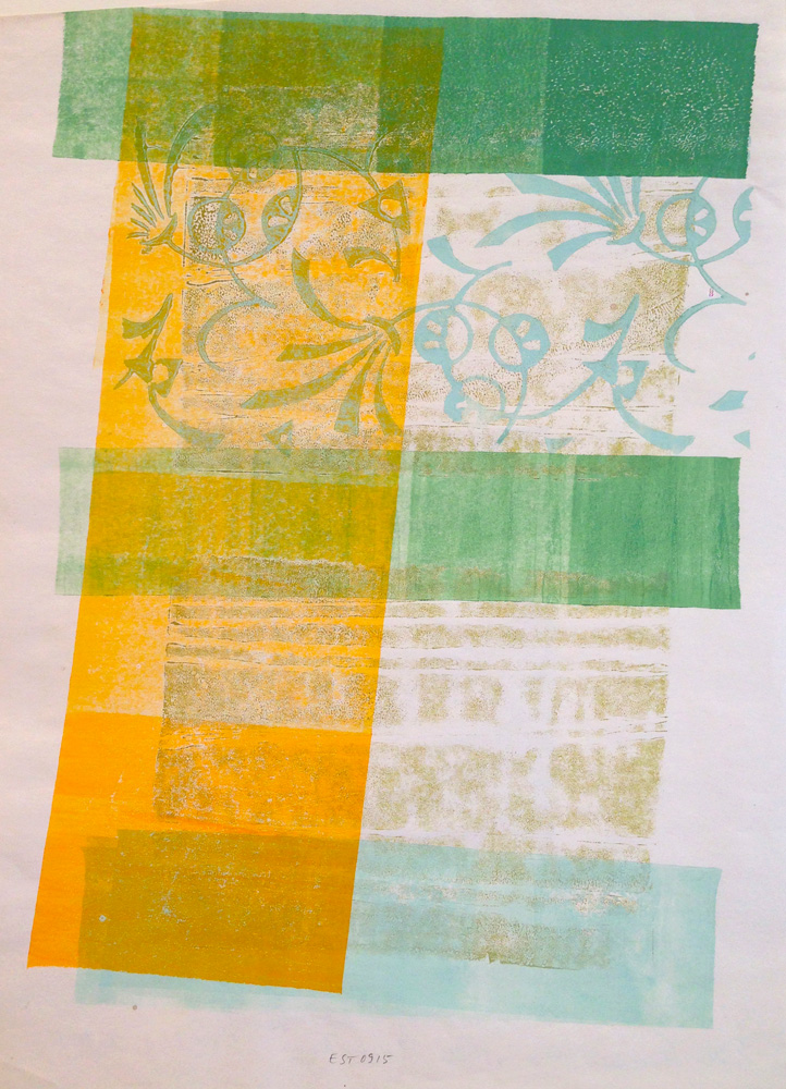 Stille - 8 Variationen, Blatt 8 | 2009 | Walzendruck | 2009 | 30 x 41 cm