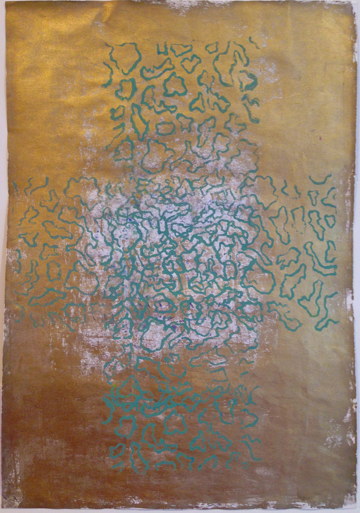 Übung in Gold (2) | Walzendruck | 2005 | 30 x 41 cm