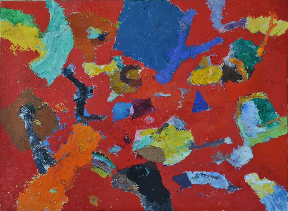 17 | Reste in Rot | 2014 | Öl auf Leinwand | 140 x 190 cm
