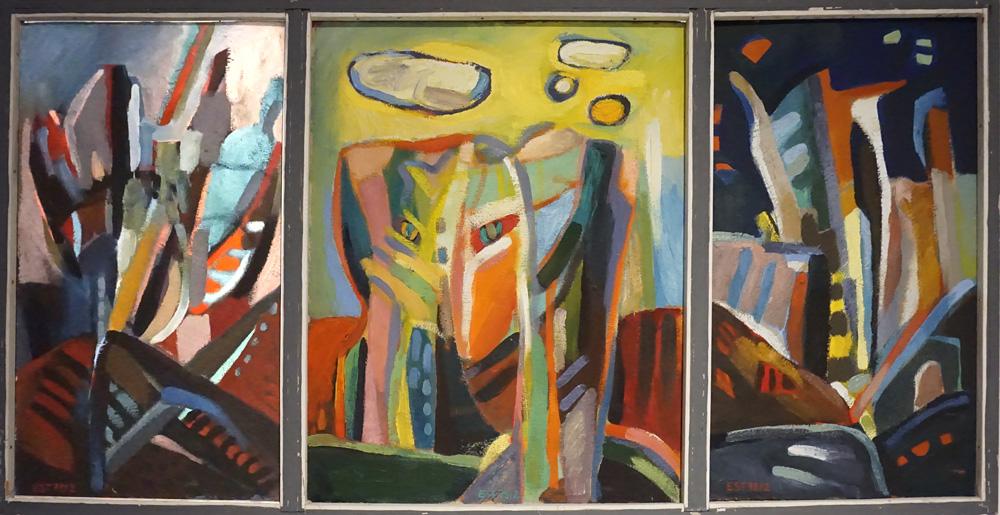Gestein, Gestalt, Vegetativ (Triptychon) | Öl/Hartfaser | 1978 | 120 x 60 cm