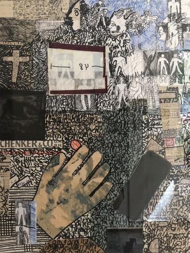 01 | Schenker & Co | Überzeichnung/Collage | 46 x 56 cm | 2014