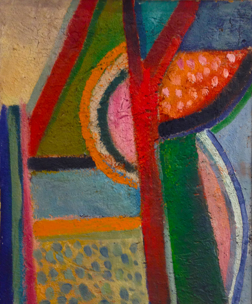 Zirkus | Öl/Hartfaser, gesandet | 1968 | 40 x 50 cm
