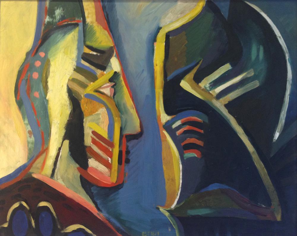 Der schwarze Ritter | Öl/Hartfaser | 1978 | 58 x 72 cm