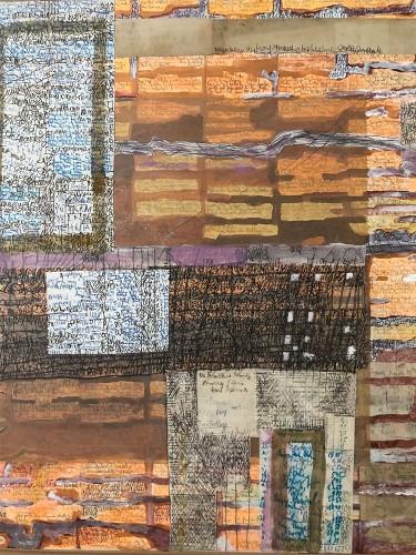02 | Brief an Julien Green | Überzeichnung | 60 x 60 cm | 2005