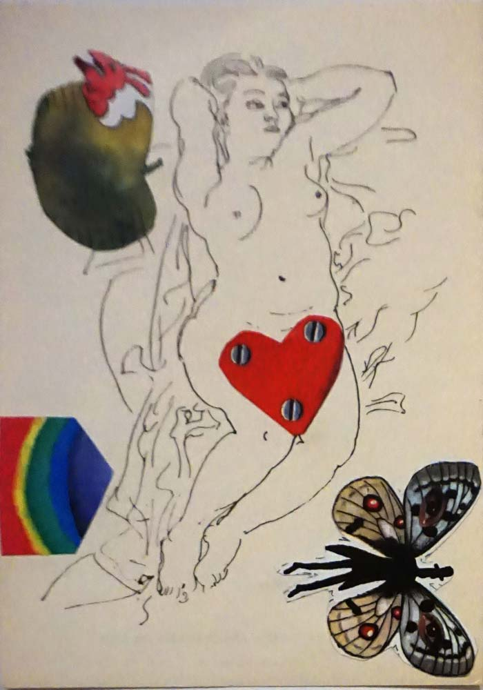 Karte | Collage | 1969 | 10,5 x 14,8 cm