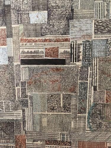 03 | Tunis | Überzeichnung | 60 x 60 cm | 2005