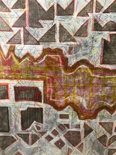 04 | Marguerita | Überzeichnung | 60 x 60 cm | 2010
