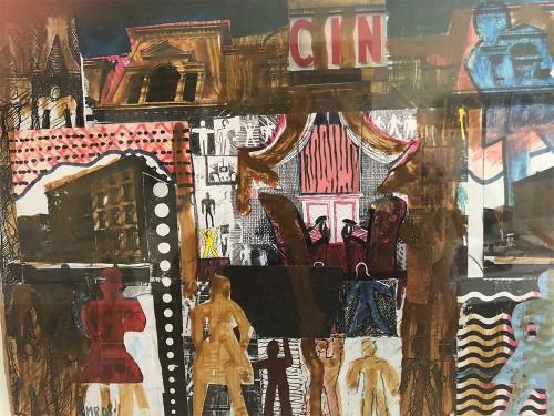 "07 | NY 11, Serie ""New York"" | Collage, übermalt | 42 x 26 cm | 1995"