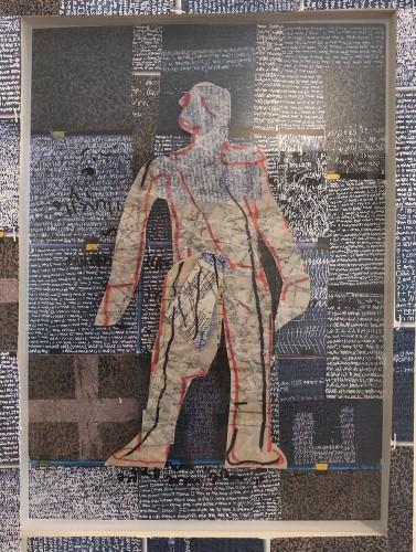 08 | MannoMann | Collage, übermalt |23 x 31 cm | 2017