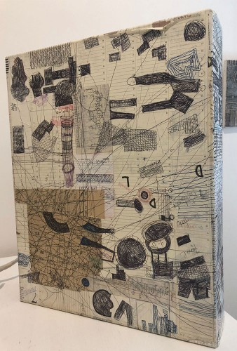 09 | Bilderkasten | Collage, Überzeichnung | 40 x 50 x 10 cm | 2014
