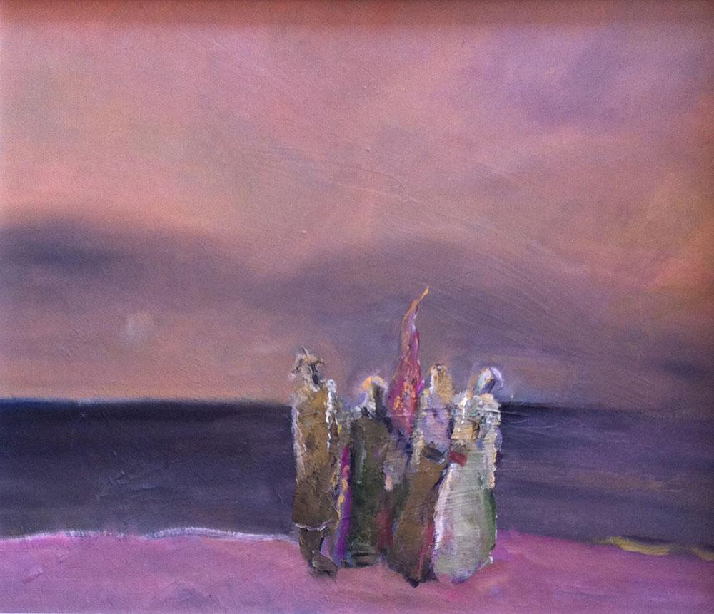 """Am Ufer"", Öl/Hf, 2015, Maß H 46 cm x B 53 cm"