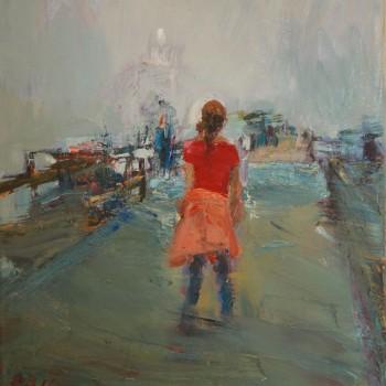 Seebrücke 1,Öl, Lw, 50 x 40, 2016