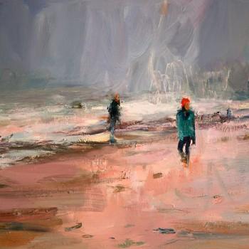 Strandlaufer, Oel, Lw, 100 x 70, 2016