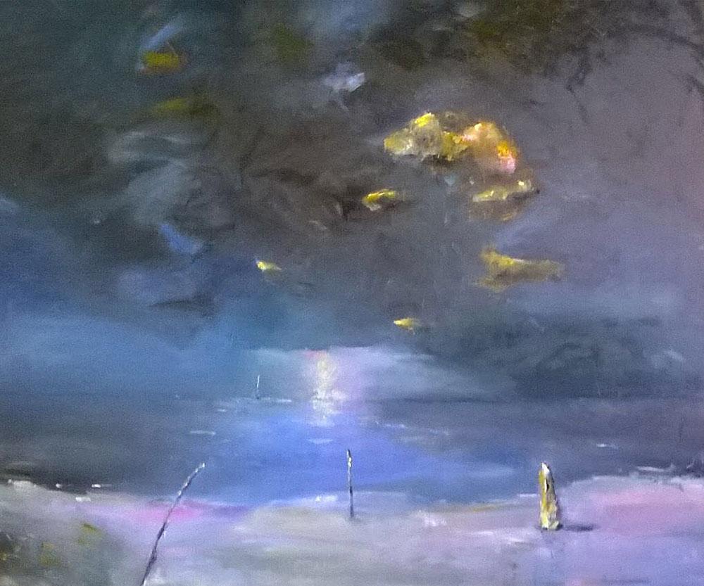 """Einsam am Meer"" 100 x 120 cm"