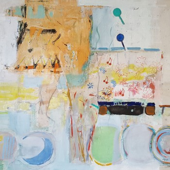 """""""Stehende angeschnitten"""", Öl/Lw, 2007-2009, H 100, B 118"""