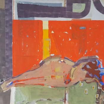 """""""Liegender Akt (2)"""", Öl/Lw, 2007, H 100, B 118"""