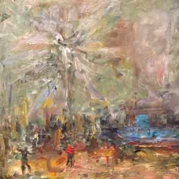 Malersaal, Öl, LW, 100 x 80 cm, 2017