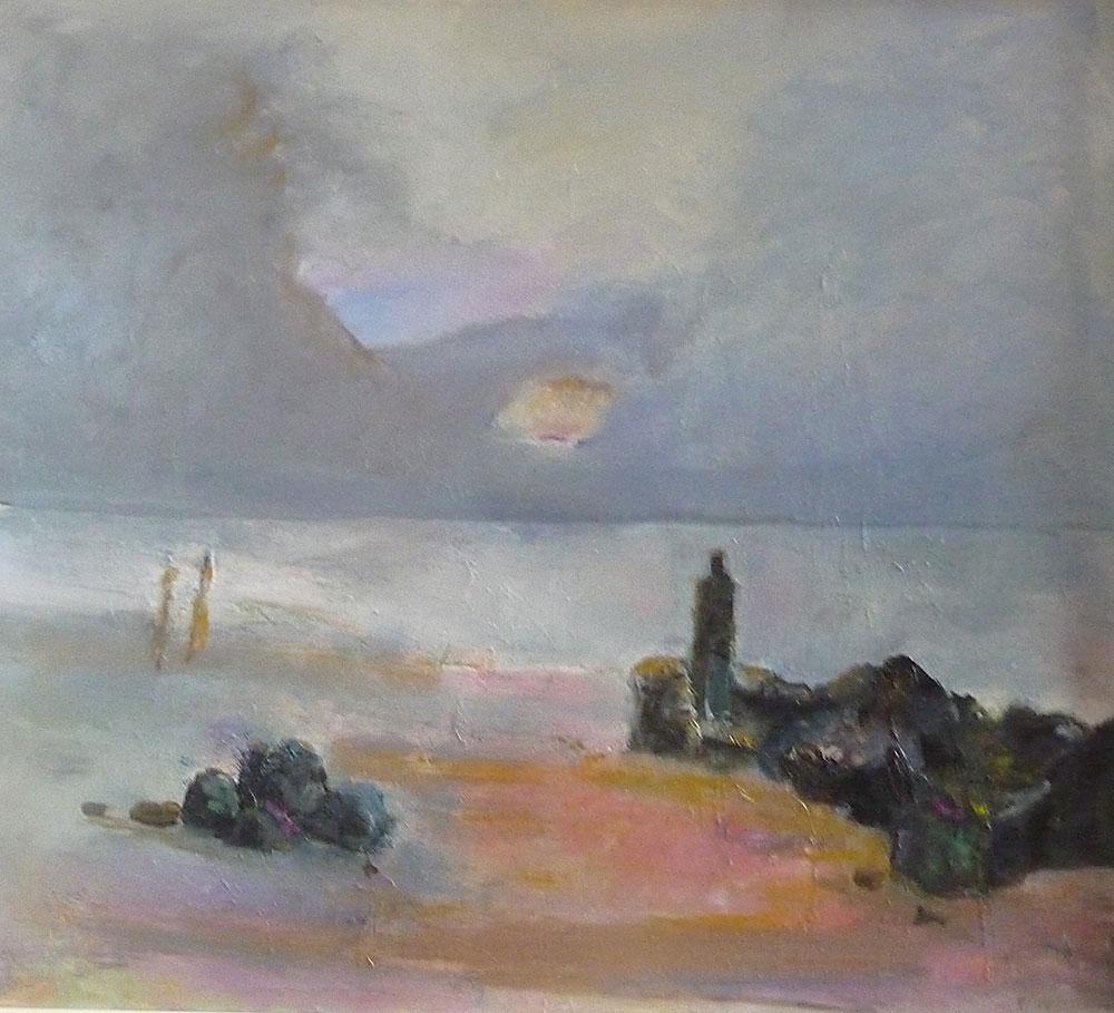 """Einsam auf  Bornholm II"", 2014, Öl/Hf, 87 x 83 cm"