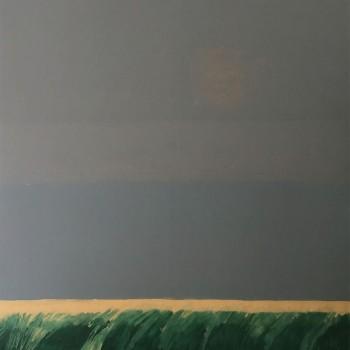 Schilfbild (Nebeltag), 160 x 160, 2008, Öl/Lw
