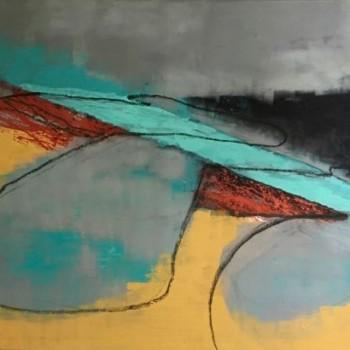 Uferlinie, 115 x 160, 2001, Öl/Lw