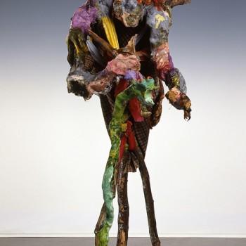 Schamane mit grüner Schlange, 1995, GfK, Höhe 180cm