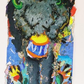 Faun mit grüner Schlange, 2011, 195X90