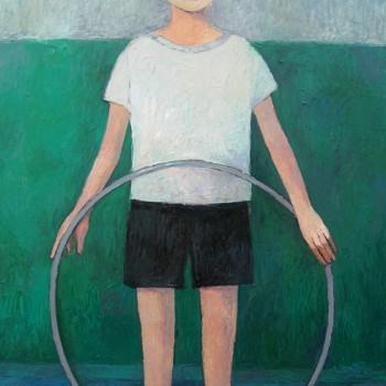 """Boy with a hoop"" - 120x80, Öl/Lw, 2014"