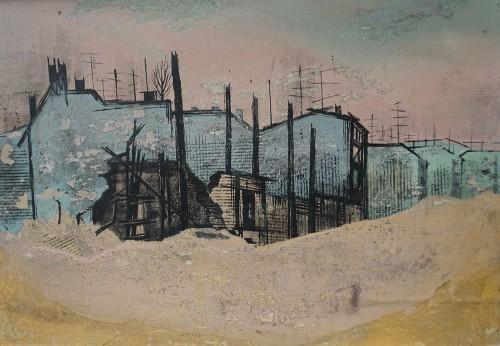 Ita Maximowna | Ruine Lindensstr. | Mischtechnik | 51 x 35 cm | 1971